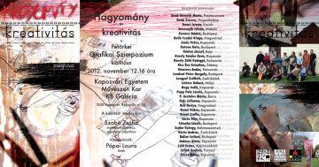 Meghívó - Hagyomány és kreativitás - Petörkei Grafikai Szimpozium kiállítására