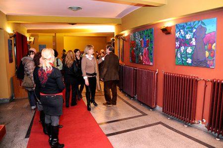 Stamler Lajos kiállítása a kaposvári Csiky Gergely Színházban 2014. február 07.